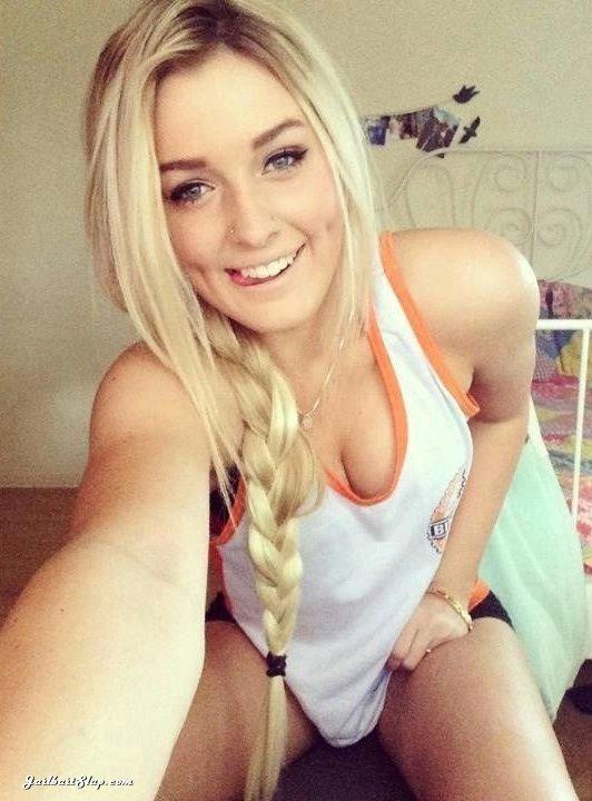 Licking Lips Smile For Blonde Teen Teens Selfies Hotties Self Shots