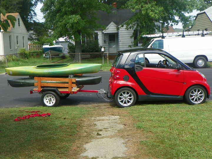 Hauling A 1 Person Kayak On Roof Rack Smart Car Forums