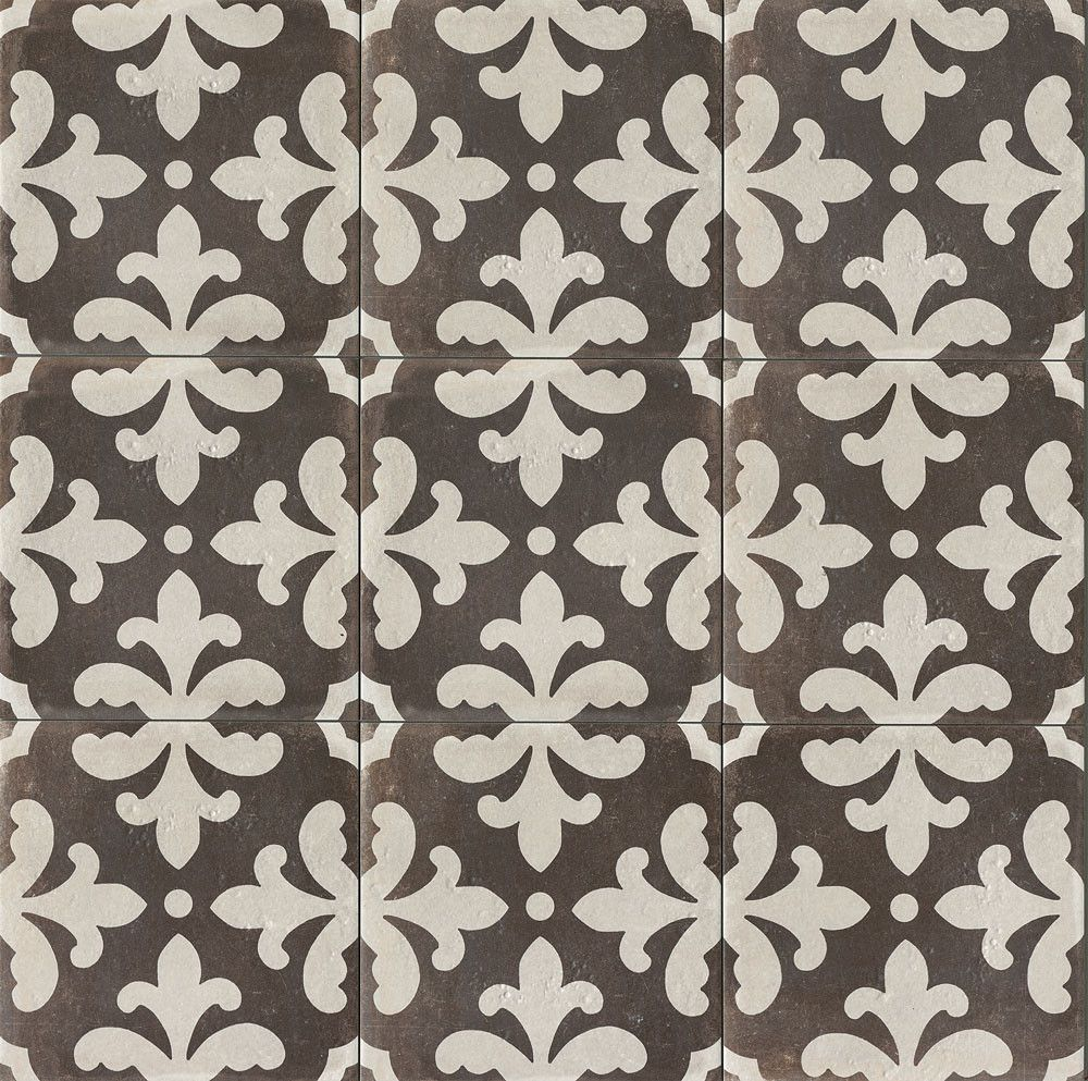 Palazzo 12 X 12 Decorative Tile In Castle Graphite Florentina Best Bathroom Flooring Decorative Tile Style Tile