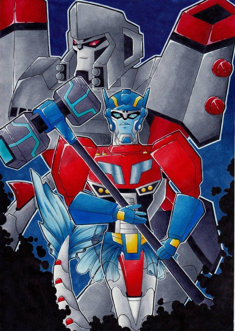 TFA Optimus x Megatron merfomers   Transformers