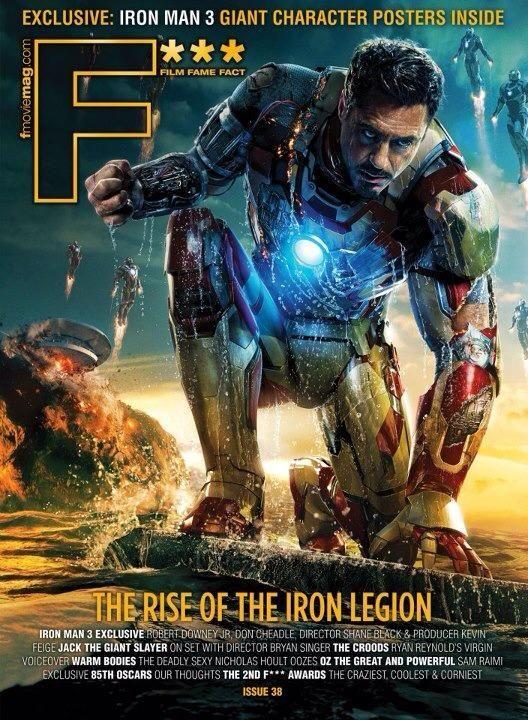 New F Magazine With Iron Man 3 Cover Filme Iron Man 3 Ganze Filme