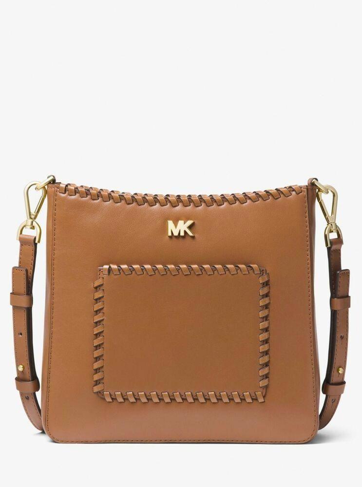 862e48431adf Michael Kors Gloria Whipstitched Crossbody Messenger Acorn NWT   Dust Bag   MichaelKors  MessengerCrossbody