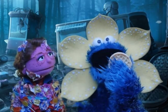 Cookie Monster Learns To Share In Stranger Things Parody Stranger Things Funny Stranger Things Stranger