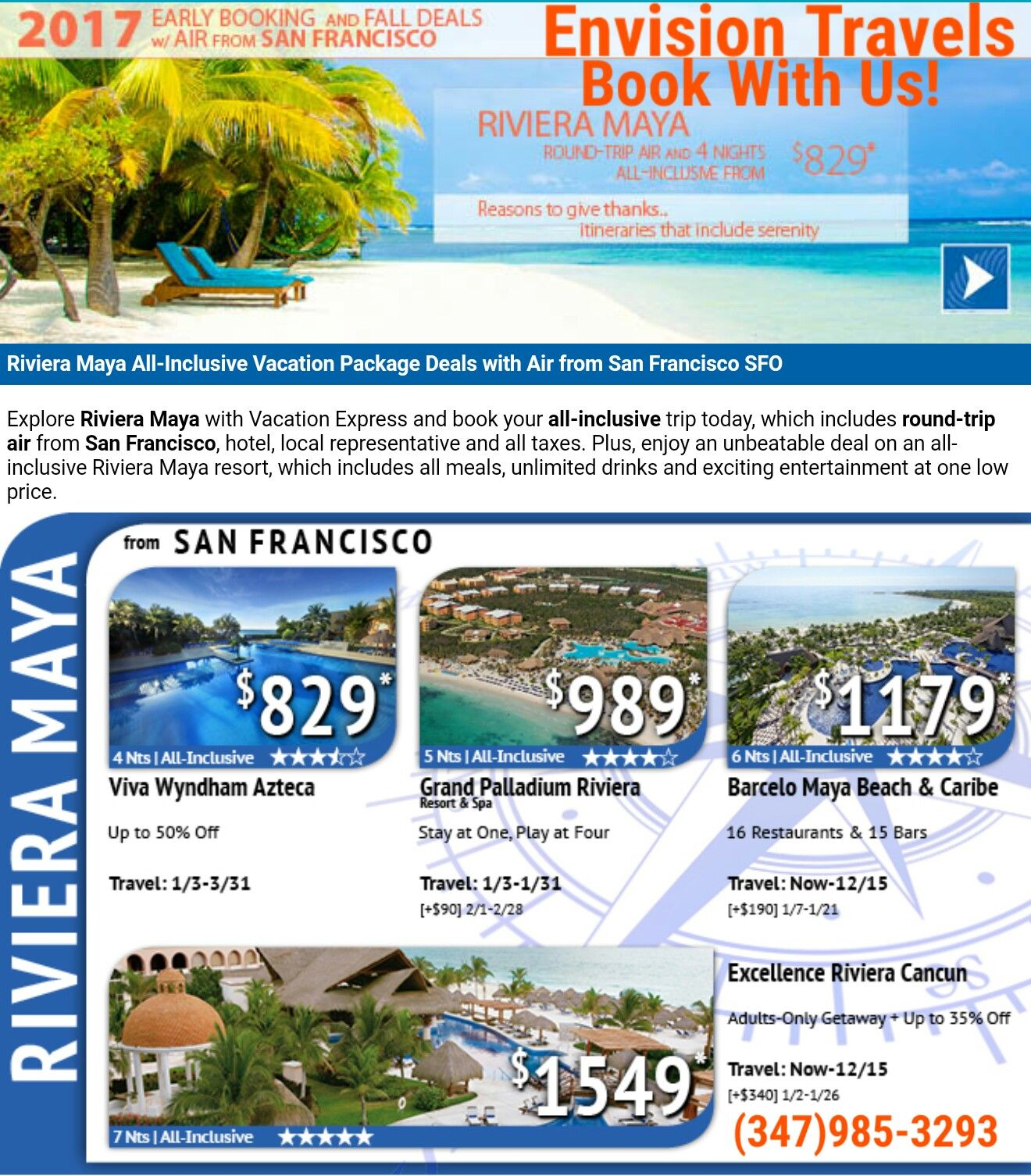 Attention San Francisco Deals For All Inclusive Vacation - All inclusive vacations with air