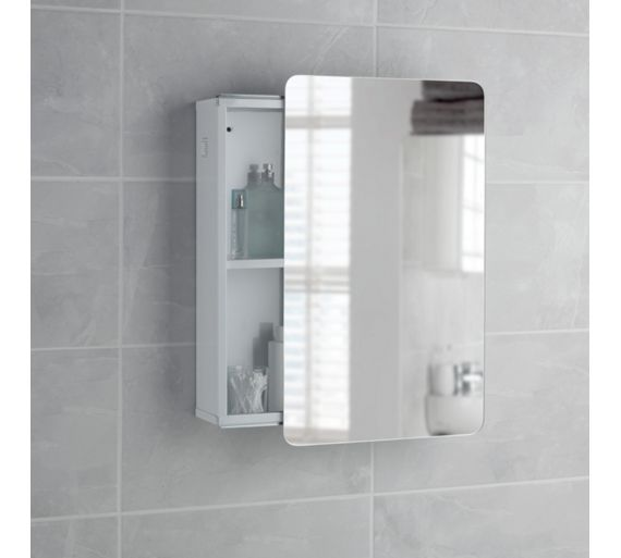 Buy Wow Hygena Sliding Door Mirror Bathroom Cabinet White At Argos