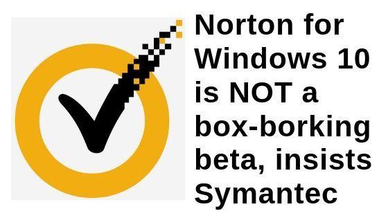 Norton, Win phone, Windows 10