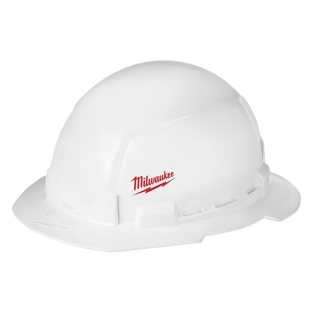 Milwaukee Bolt White Type 1 Class E Full Brim Hard Hat With Small Logo 48 73 1031 The Home Depot In 2021 Hard Hat Hard Hats Hard Hat Accessories