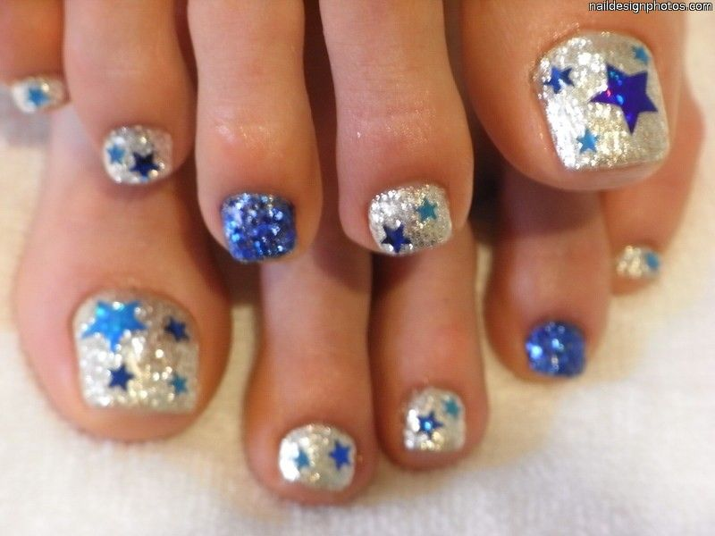 12 Nail Art Ideas For Your Toes | Simple toe nails, Toe nail designs ...
