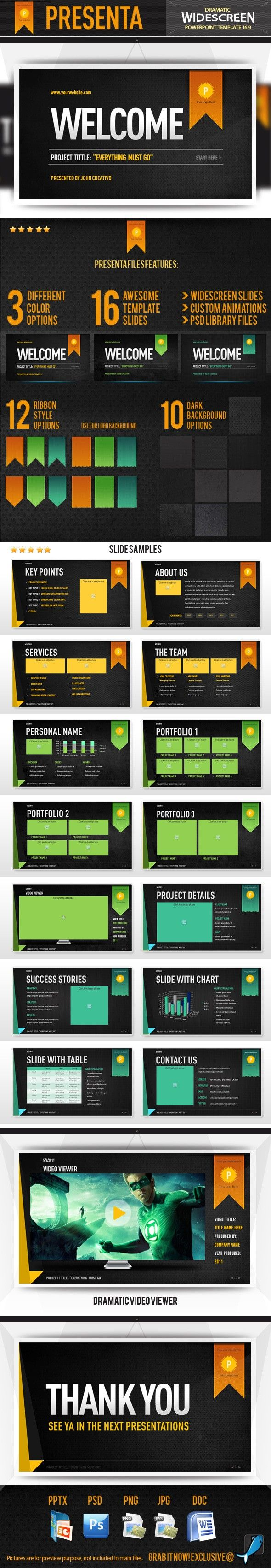 Presenta powerpoint template template and contemporary art toneelgroepblik Image collections