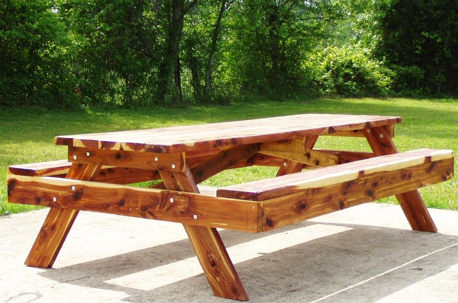 $80 Picnic Table From Lowes + Two Different Color Finishes U003d Gorgeous  Dining Room Table! | Dining Room | Pinterest | Picnic Tables, Dining Room  Table And ...