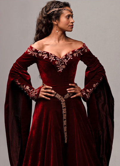 Gowns Pagan Wicca Witch:  Red-velvet #gown.