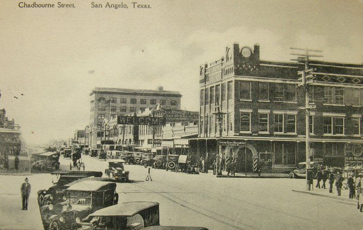 San Angelo Tx Chadbourne St 1922 From Facebook West Texas