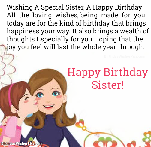 Happy Birthday Wishes For Sister With Birthday Images Birthday