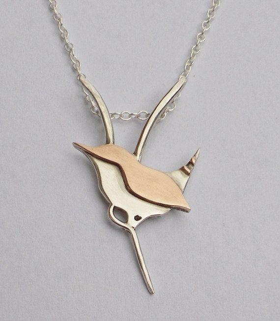 Wren pendant by rosalyn green silver 9ct red gold bird pendant wren pendant by rosalyn green silver 9ct red gold bird pendant mozeypictures Gallery