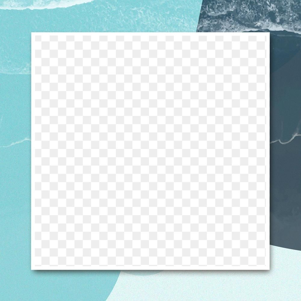 Blue Square Frame Png Background Free Image By Rawpixel Com Karn Blue Square Square Frames Frame