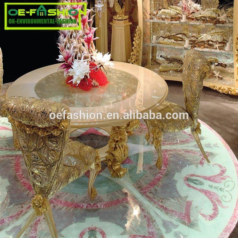 Oe Fashion Luxury Dubai Wooden Round Used Restaurant Dining Table