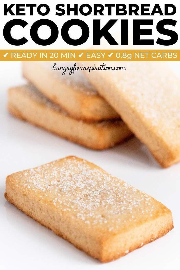 These Keto Shortbread Cookies won't last long because they're too good! Healthy & delicious Keto Chr...