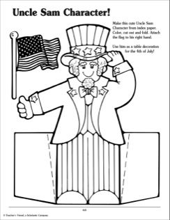 Uncle Sam Activities Activities Childrens Activities