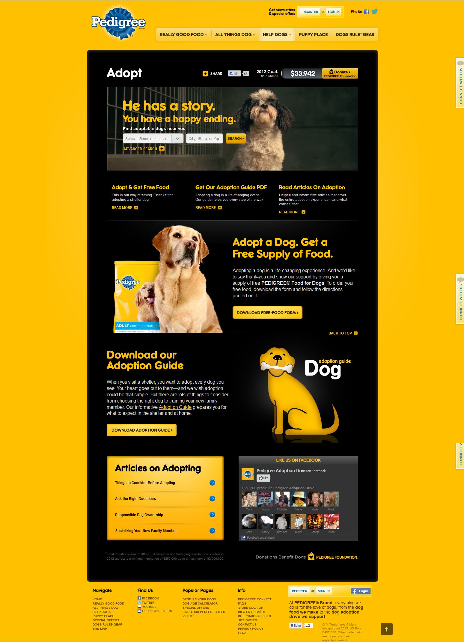 Pedigree Adoption Landing Page Well Designed Wellness Design