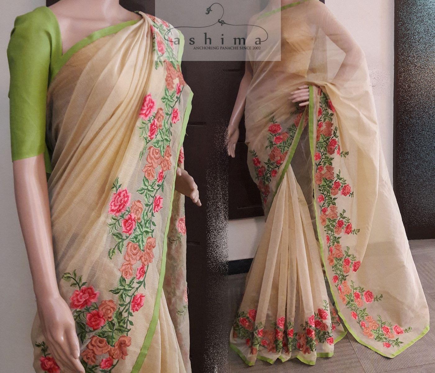 599e0e86705c42 Code:T2106178 - Price INR:2600/- , Embroidered Supernet Kota Saree ...