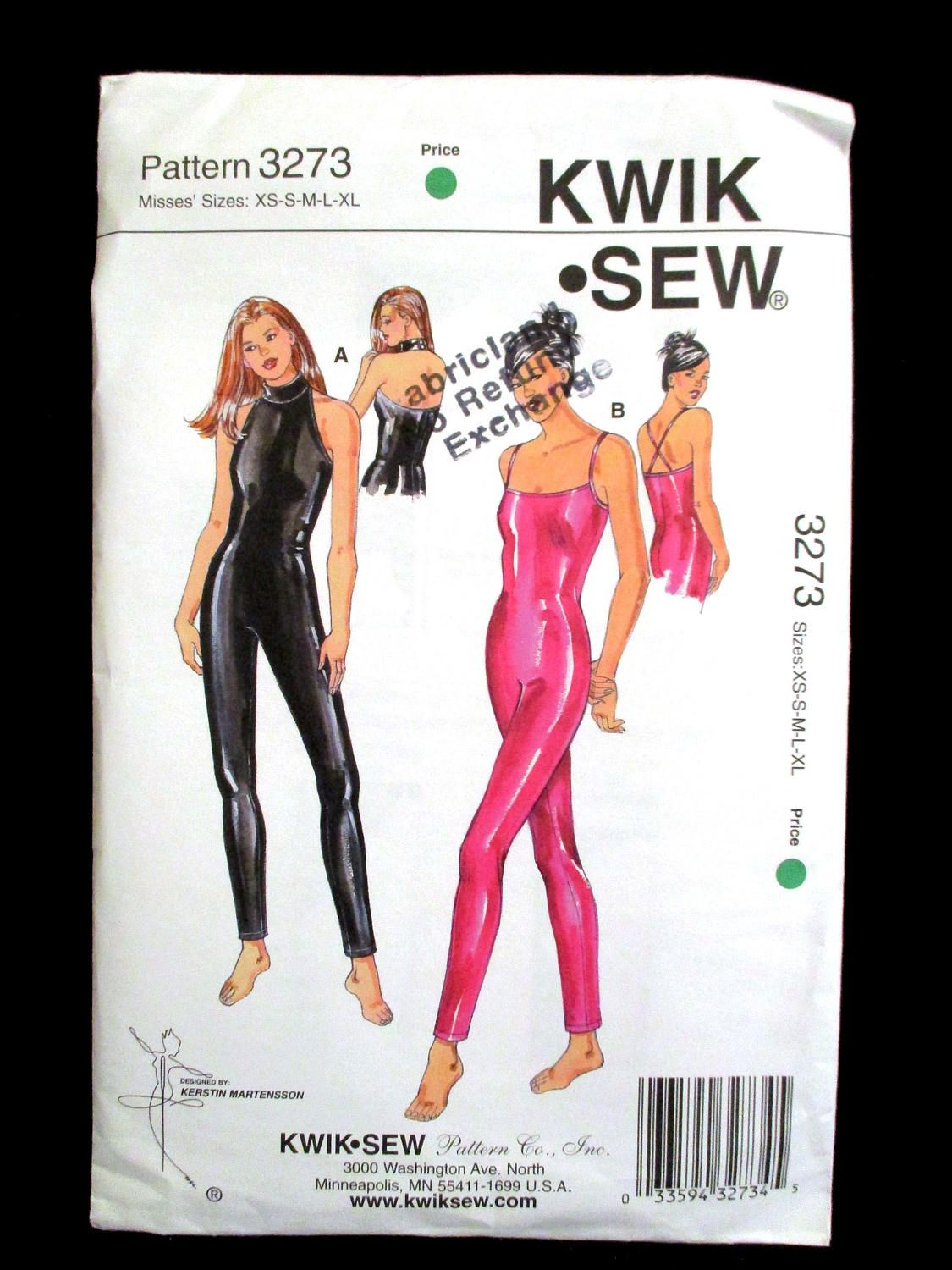 Unitard sewing pattern kwik sew 3273 misses ladies size xs s m l unitard sewing pattern kwik sew 3273 misses ladies size xs s m l xl stretch knit lycra spandex jeuxipadfo Gallery