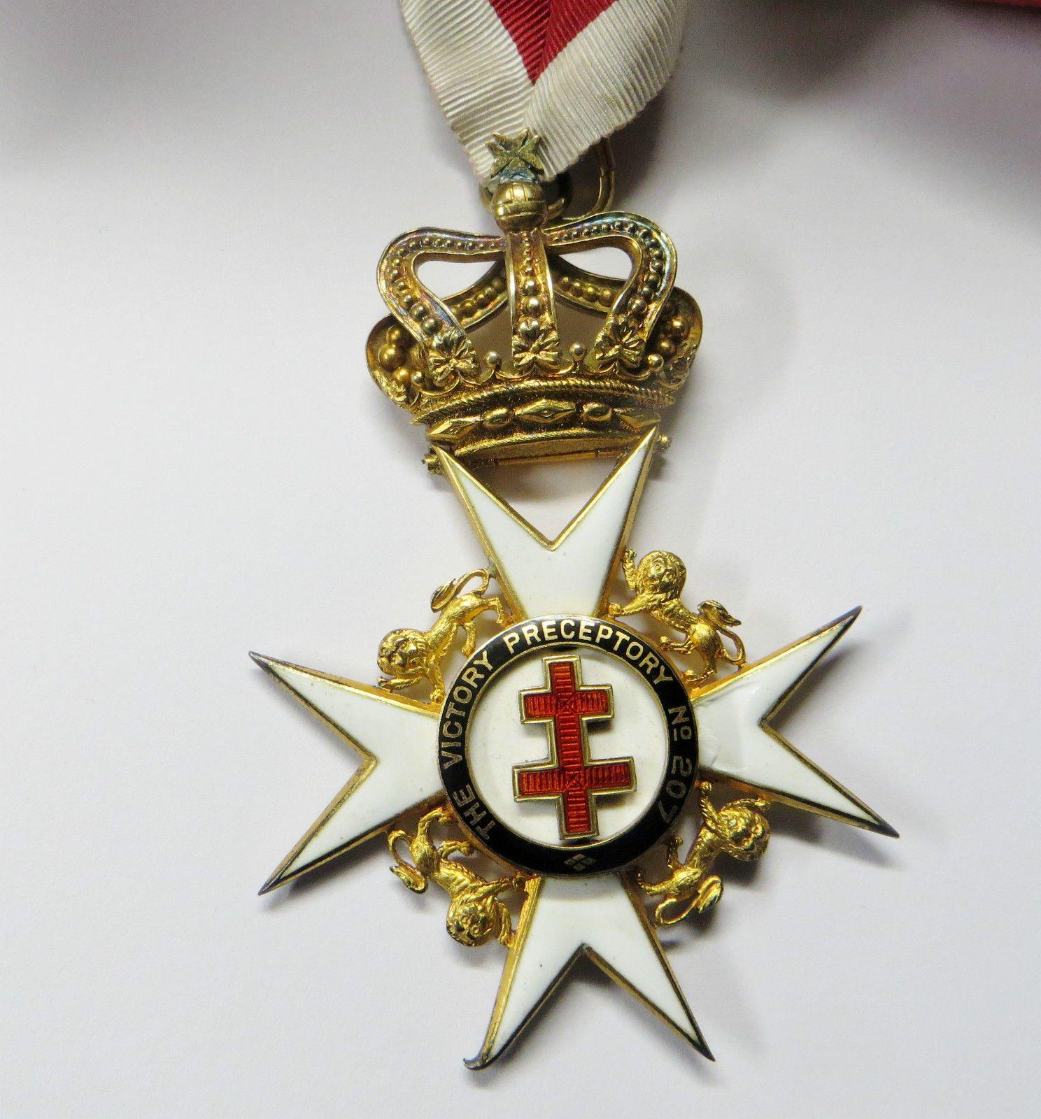 Ww2 Silver Masonic Jewel Knight Templar Preceptor Jewel
