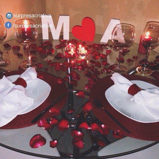 Pin Em Jantar Romantico