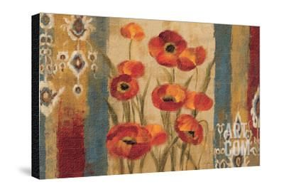 Ikat Floral Tapestry Premium Giclee Print by Silvia Vassileva at Art.com