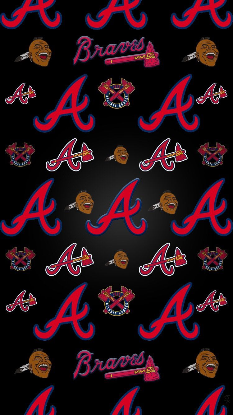 Pin By Jess Walker On Atlanta Braves Atlanta Braves Wallpaper Atlanta Braves Baseball Atlanta Braves Logo