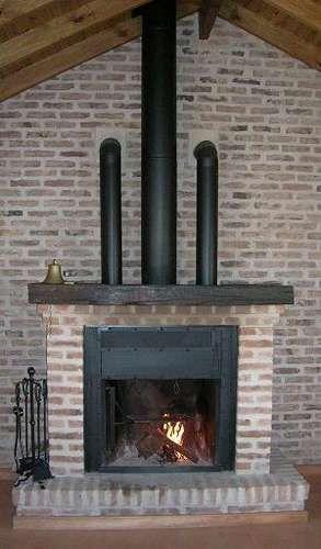 Chimenea tubos para calentar cueros - Chimeneas interiores ...