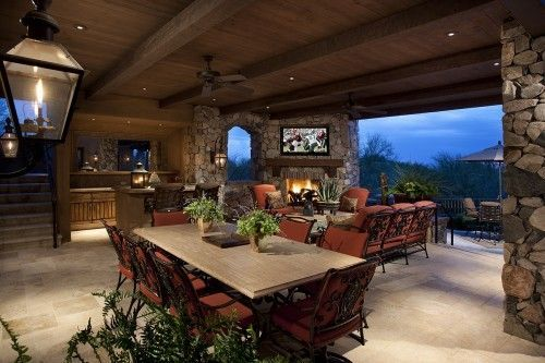 Amazing Spacious Covered Outdoor Living Space With Tv.. | Outdoor Spaces .
