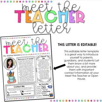 Meet the Teacher Template Editable - Back to School Night - Open House #meettheteacherideas