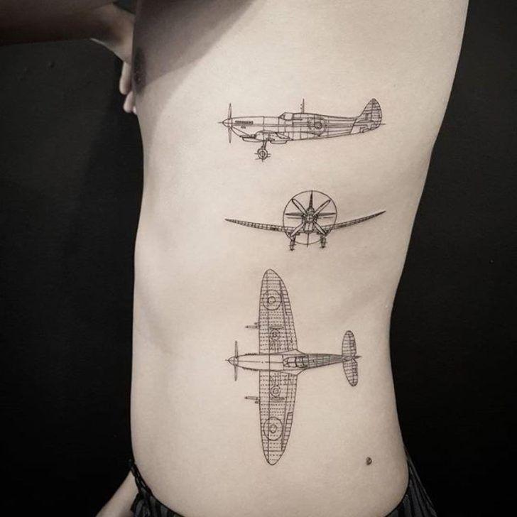 Home Tattoo Spirit Flugzeug Tattoo Ideen 15