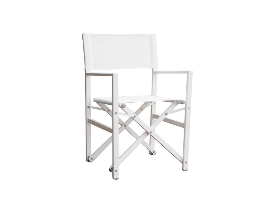 Studio Aluminum Folding Director S Chair White Studio Chairs