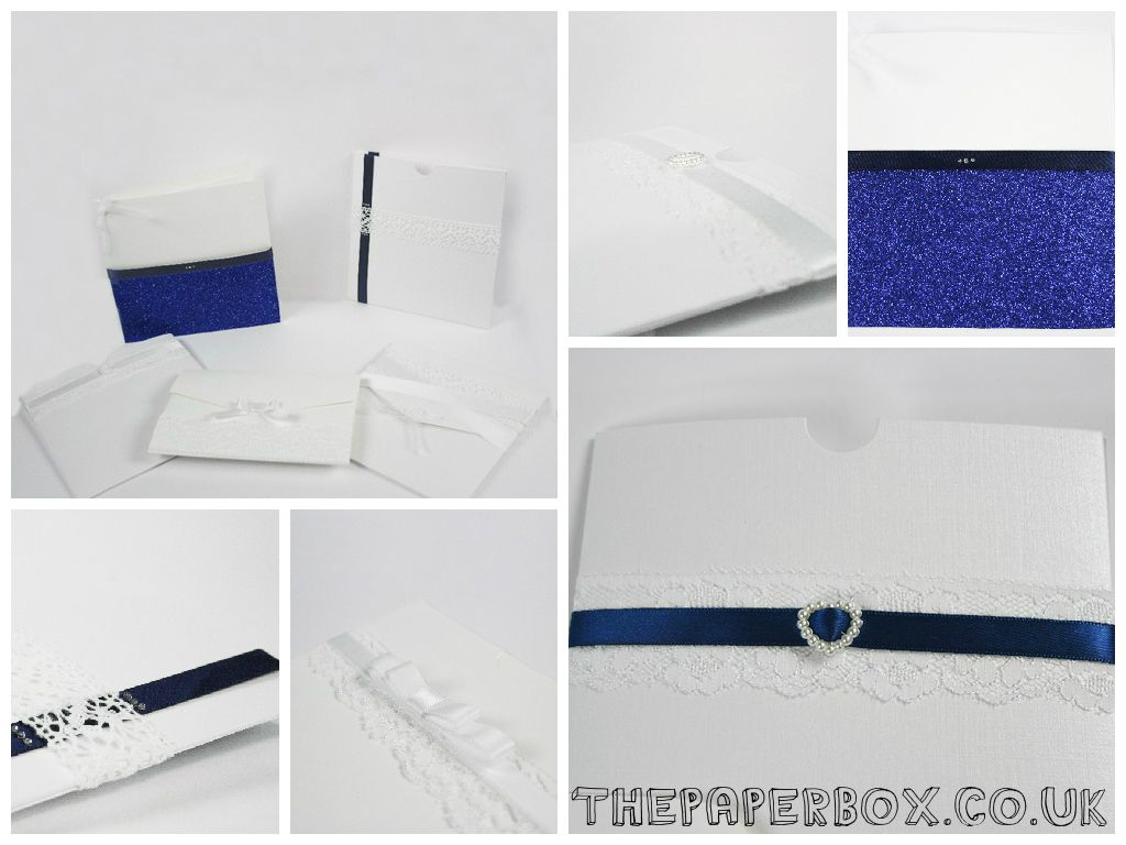 cinderellthemed wedding scroll invitations%0A Classic white invitations with navy accents  diy  wedding  invitations  Gorgeous ideas for your