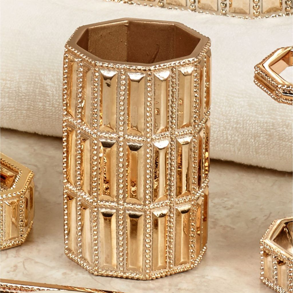 gold bling bathroom accessories | bathroom accessories | pinterest