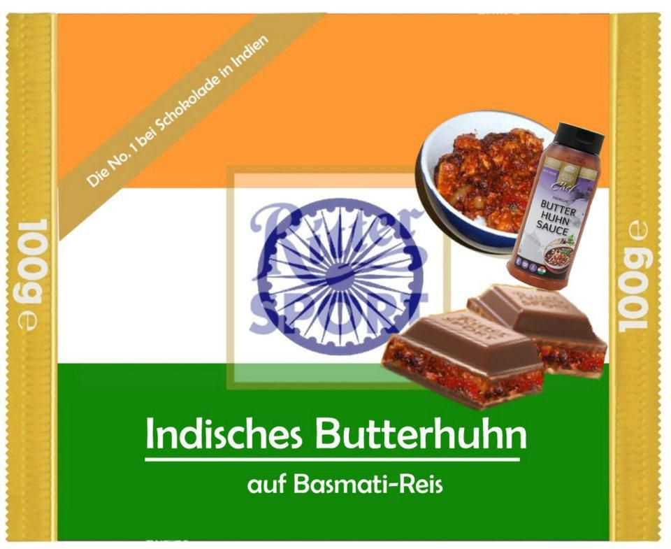ritter sport fake schokolade indisches butterhuhn ritter. Black Bedroom Furniture Sets. Home Design Ideas