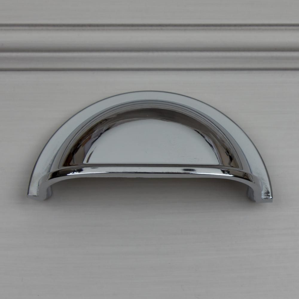 50 Pack Amerock Bp5301026 Polished Chrome Kitchen Drawer Cup Cabinet Pull Handle