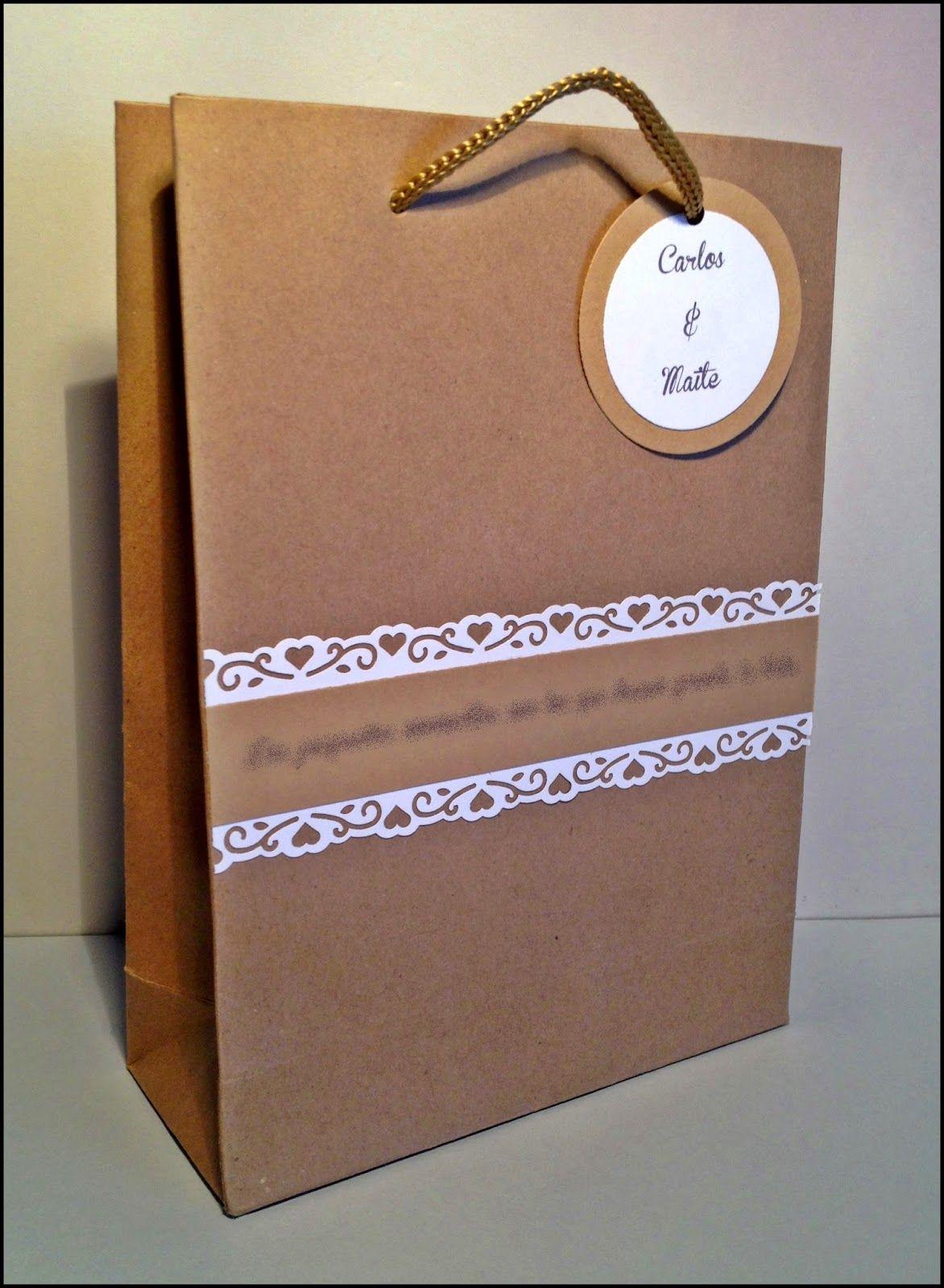 Bolsa regalo especial boda Maite y Carlos