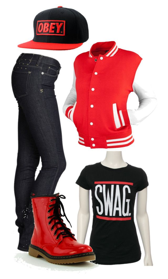 """swag off the market"" by kennedydene ❤ liked on Polyvore featuring OBEY Clothing"