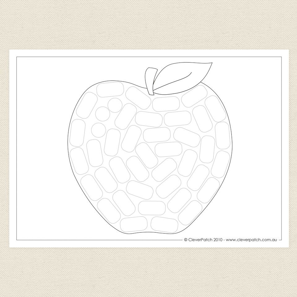 Amazing Maize Apple Colouring Sheet CleverPatch (With