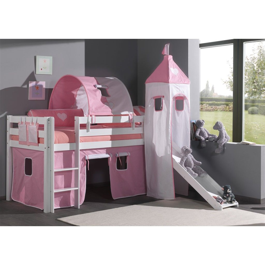 lit mi hauteur avec toboggan pour enfant lits simple avec mezzanine. Black Bedroom Furniture Sets. Home Design Ideas