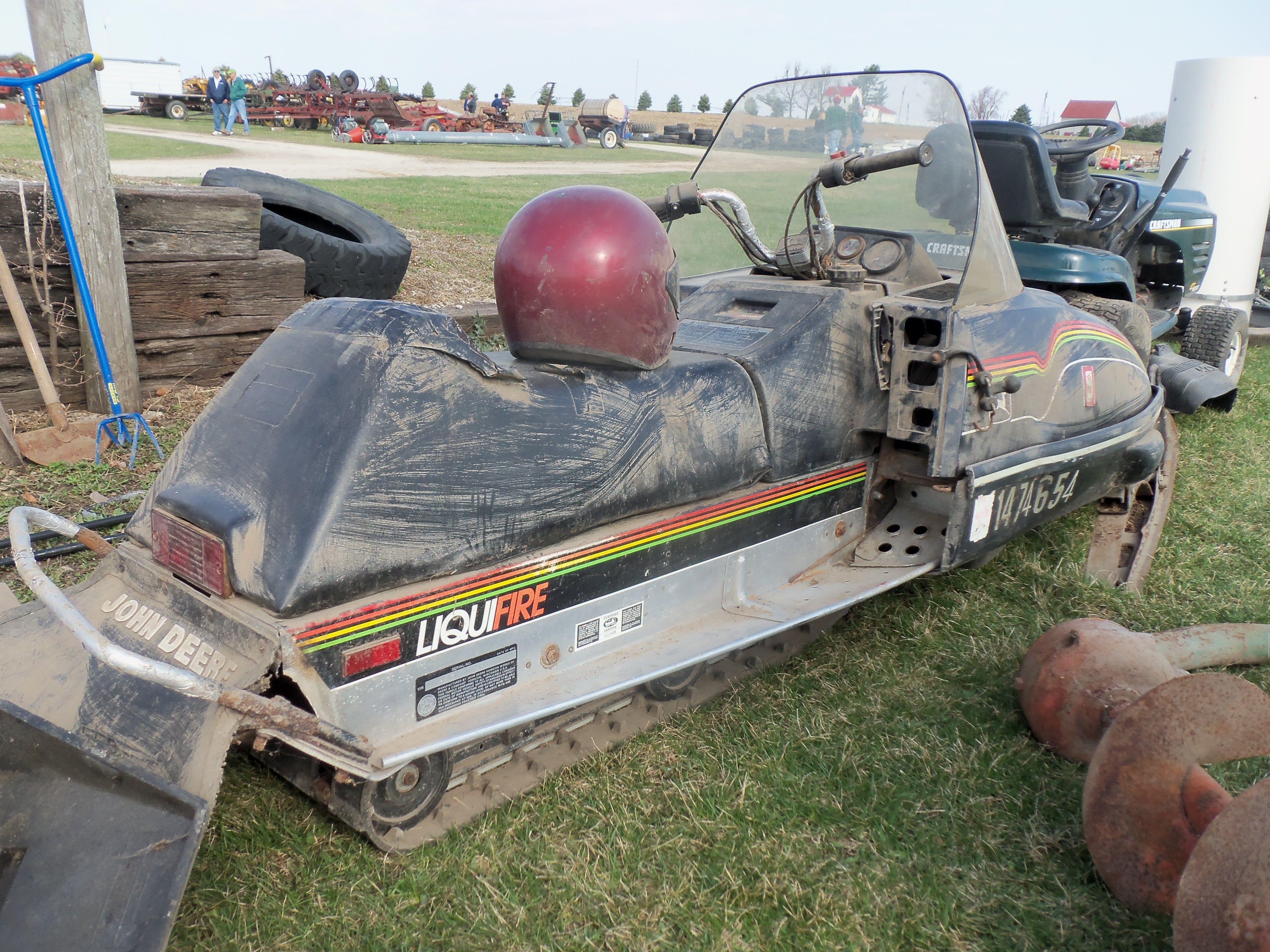 Used John Deere liquifire snowmobile