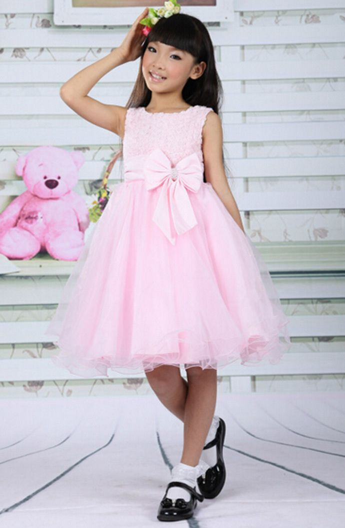 new 2015 baby girl tutu dress pink Princess toddler girl dress cute ...