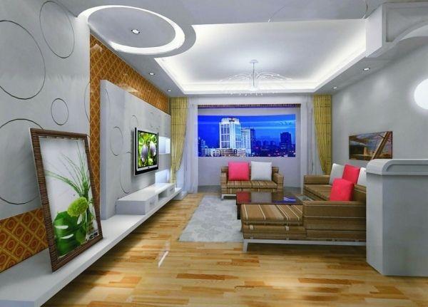 Wohnzimmer Decken Gestalten Den Raum In Neuem Licht Erscheinen Lassen Deckengestaltung Wohnzimmer Deckenarchitektur Wohnzimmerlampe Decke