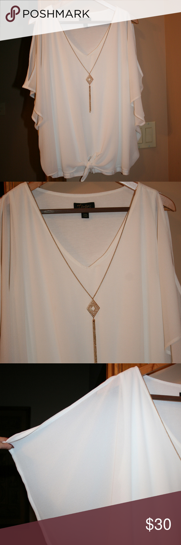 thalia sodi necklace lined open arm blouse size l in 2018 my posh