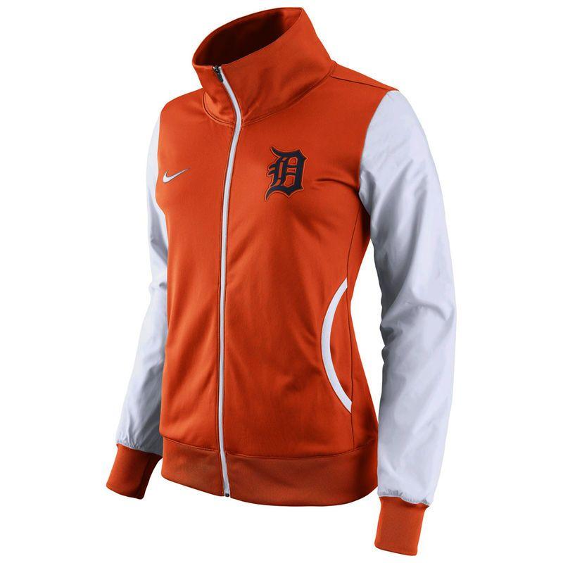 f4199ff62d Detroit Tigers Nike Women s Track Jacket - Orange White
