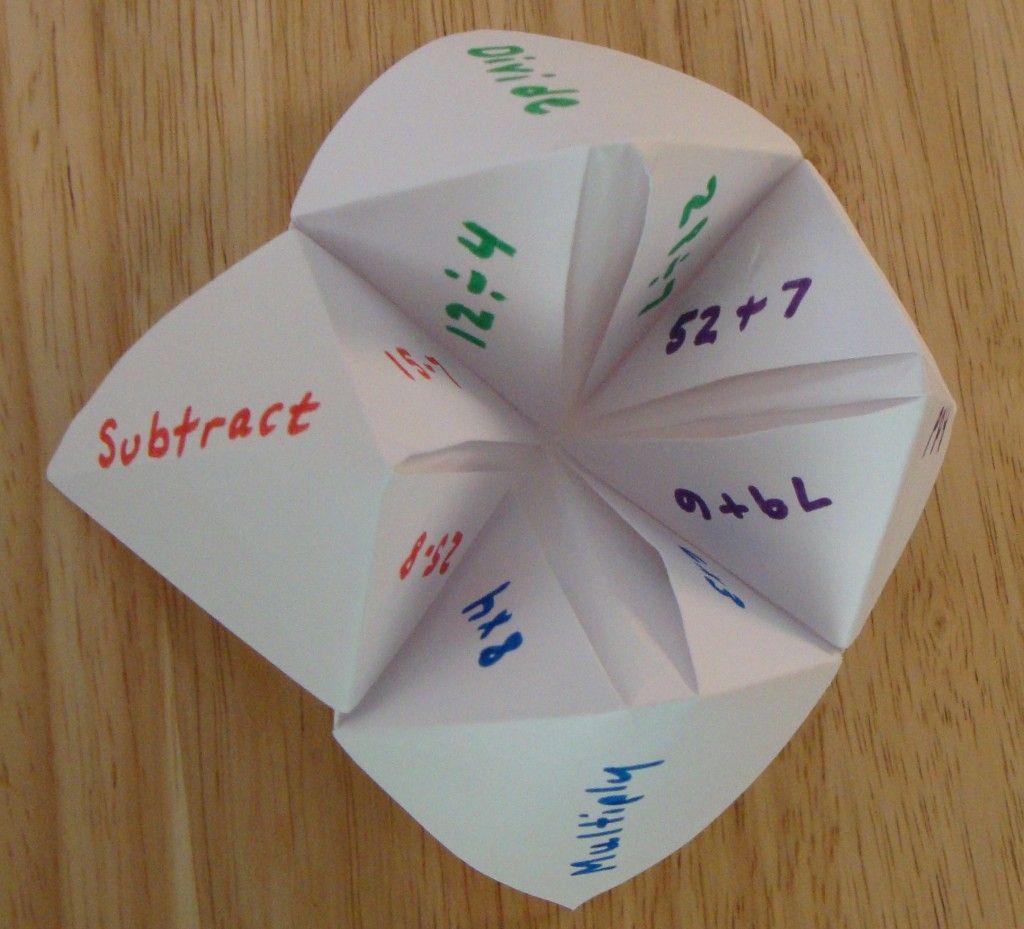 Math Facts Fortune Teller