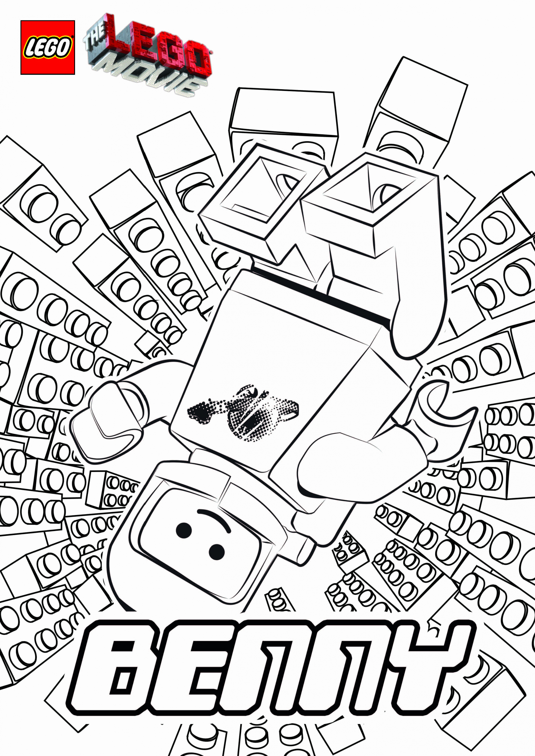 The Lego Movie Coloring Pages For Kids In