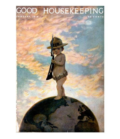 Good Housekeeping magazine cover, January 1919 Jessie Willcox Smith